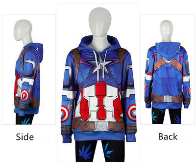 Movie Captain America Women Casual Sweatshirts 3D printed Men's Hoodies Jackets