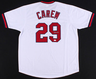 886fd051bd6 Rod Carew Signed California Angels Jersey (JSA) 18×All-Star (1967–1984)  1977 MVP