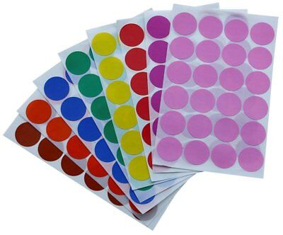 Colored Coding Dot Stickers 1 Inch Rounded 25mm Labels Assorted Colors 768 Pack
