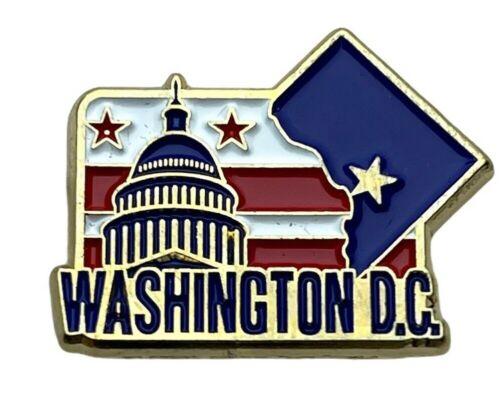 Washington DC D.C. Nation Capital Flag Colors 1 inch Hat Lapel Pin AVA F2D30D