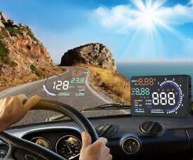 """Car HUD Head Up Display OBD II OBD2 Auto Gauge 5.5"""" Dash Screen Projector"""