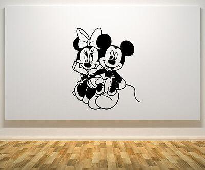 Mickey & Minnie Mouse Liebe Disney Kinder Schlafzimmer Aufkleber Wandaufkleber
