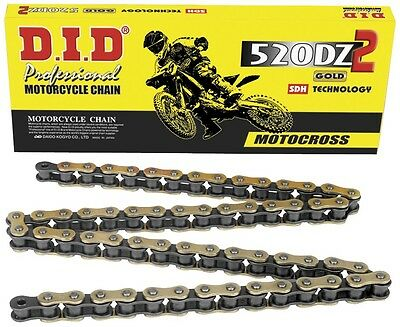 DID DZ 520 X 120 Link Gold Motorcycle/Motorcross Chain CR KX RM YZ CRF KXF KTM