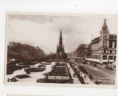 Princes Street Edinburgh From East Vintage RP Postcard 224b