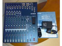 Yamaha MG124CX Mixer / Mixing Desk, 12 Channel, Built in Effects, Compression, Excellent Condition.