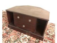 Dark Brown Wooden TV Cabinet