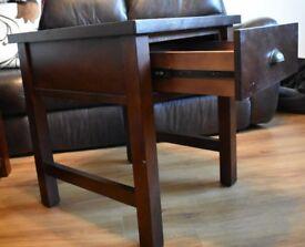 Lamp Table dark wood