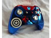 "Xbox One ""Captain America"" Custom Controller"