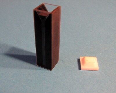 Glass Visible Vis Spectrometer Cuvette Path Length 1cm W Black Wall 1.5 Ml New