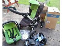Jane unlimit.. car seat pushchair and isofix seat