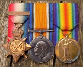 1914 trio First war medals