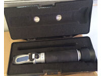 D-D H2OCEAN PORTABLE REFRACTOMETER SALINITY SALT TEST FOR FISH TANK DELIVERY PAYPAL 07544000786
