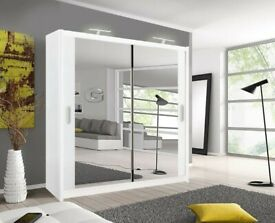 PERFECT CONDITION--2 Door Sliding Mirror Wardrobe --5 Different Sizes --Same Day Delivery