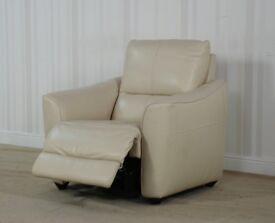 Designer Cream Leather Chair (245) £299