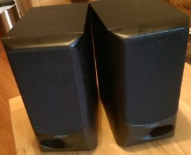 Kenwood Black Stereo Speakers - 100W - Working - Punchy Bass