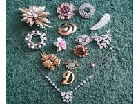 ANTIQUE COSTUME JEWELLERY - SOLD SINGLY