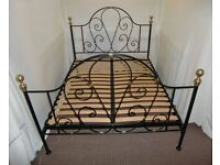 KING SIZE LAURA ASHLEY BLACK METAL BED FRAME