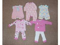 Girls Baby Grow & Pyjama Bundle (3-9m)