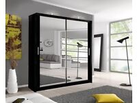 MILAN SLIDING DOORS WARDROBE IN 6 sizes and 4 colours CALL NOW