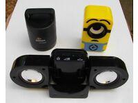 Mini speakers (1 Bluetooth/AUX, 2 AUX)