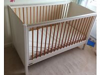 Mamas and Papas Omni Nursery Furniture 3 piece set. Wardrobe, cot bed, change unit.