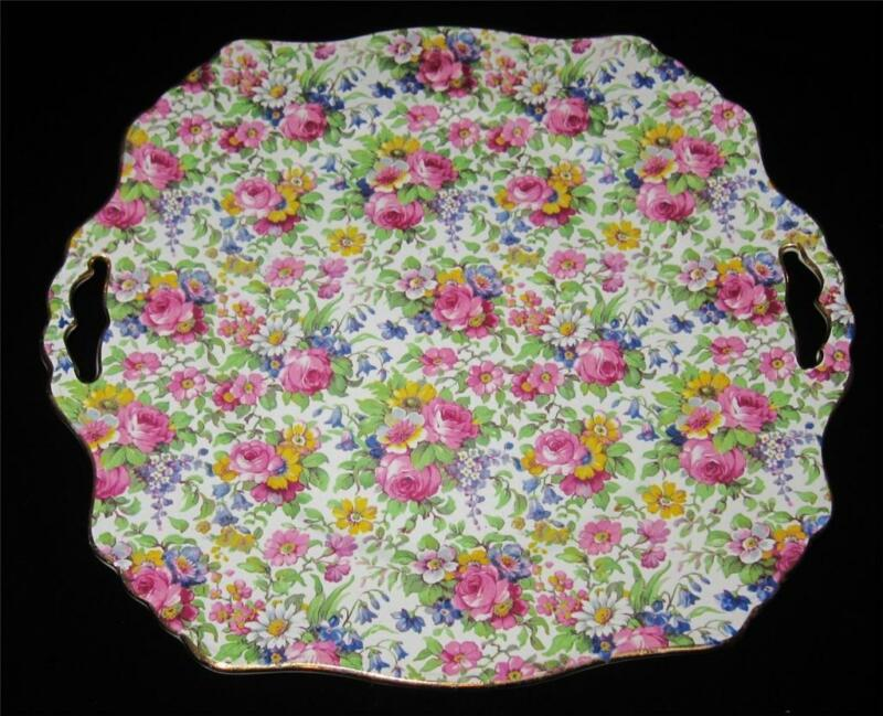 Royal Winton SUMMERTIME Square Handled Cake Plate (B)