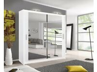 💛💛Supreme Offer💛💛 BRAND NEW BERLIN 2 DOOR SLIDING WARDROBE WITH FULL MIRROR -EXPRESS DELIVERY