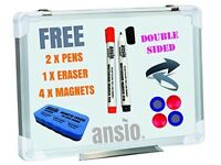 Brand New ANSIO A3 42 x 30 cm Magnetic Whiteboard Kit Ideal Present