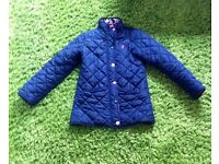 JOULES GIRLS' MABEL QUILTED JACKET - NAVY 9-10y