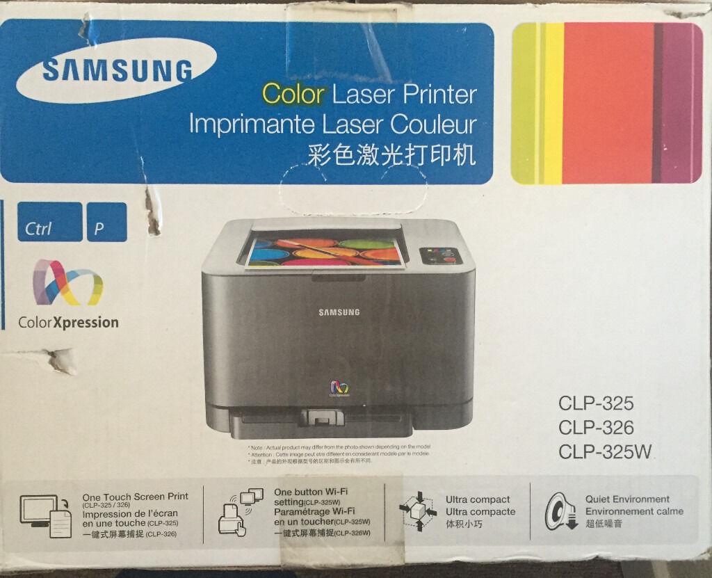 clp 325 colour laser printer samsung needs toner in. Black Bedroom Furniture Sets. Home Design Ideas
