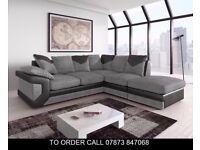 High End Dino Fabric Corner Sofa or 3 and 2 Set