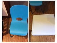 Kids lifetime table and chair