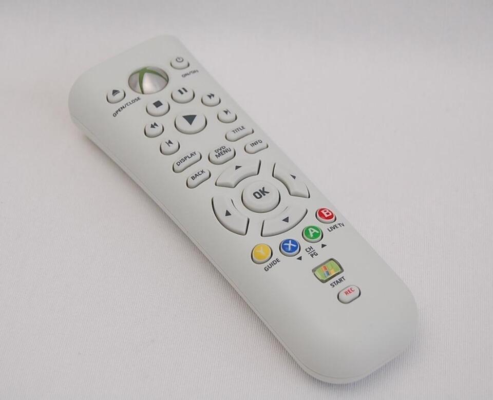 Microsoft Xbox 360 Media Dvd Remote Control X803250 002 Used