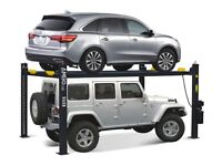 Brand New Amgo 4 Post Parking Lift – 4 Ton, 1ph/3ph E4G 440-HP