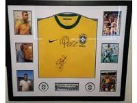 Signed and framed pele shirt