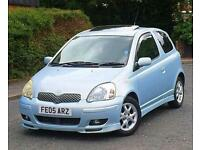 2005 05 REG TOYOTA YARIS T-SPIRIT 1.4 D-4D 3DR HATCHBACK 1 YEAR MOT 3 KEYS S/HISTORY £30 ROAD TAX