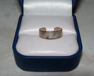 SILVER PLATED TOE RING SIZE 4