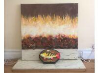 Original fireplace painting