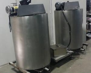 Duo de réservoirs doubles parois 400 litres (chaque) avec grattoir et mélangeur *AEVOS*