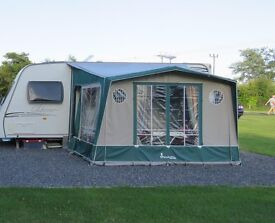 For sale - Isabella Porch Awning in good condition - including a carpet.