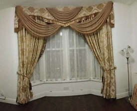 Heavy duty Gold and Brown curtains from Dubai - £499