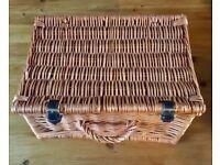 Wicker Hamper or Picnic Basket vintage style