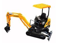 Mini Digger Hire with Operator.