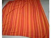 Pair of orange pattern cotton fabric CURTAINS