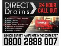 Direct Drains Drain UnBlockage from £35