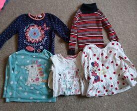 Girls clothes bundle 12-18m long / short sleeve tops