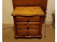 Solid Wood Bedside Table H52 - Good Condition and Sturdy Build