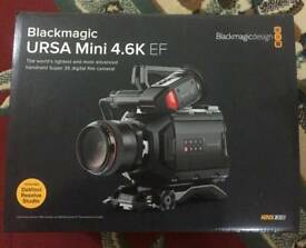 Blackmagic URSA Mini 4.6K Camera - EF Mount (dual RAW and ProRes Professional recorder)