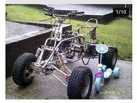 mad Tom cat 300cc quad bike rolling chassis frame breaking