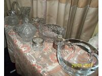selection of glassware, pozzani coffee set and heirloom plates
